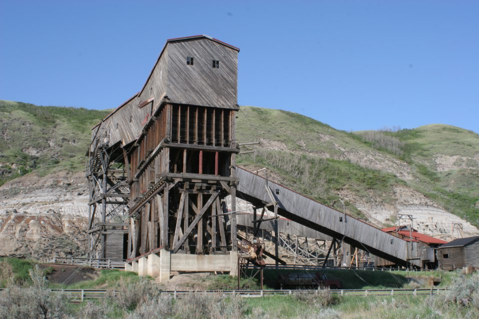 Side view of the Atlas Coal Mine Tunnel