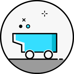 Blue Coal Cart Icon