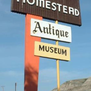 The Homestead Antique Museum sign